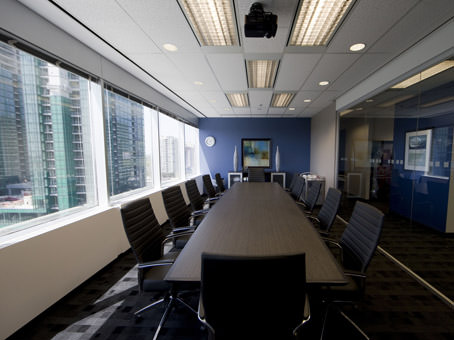 large boardroom with large windows