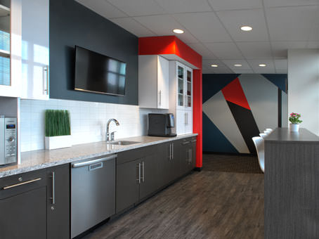 modern bold lunch room