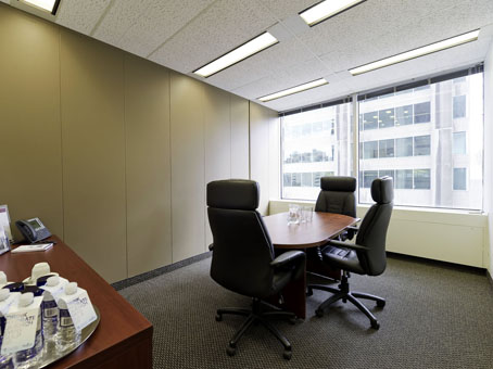 large executive office suite with window