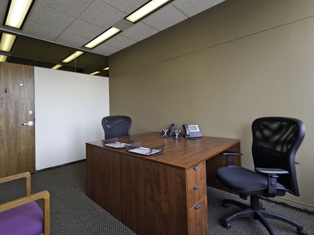 large office with wooden desk