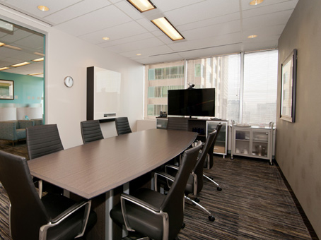 large boardroom with window