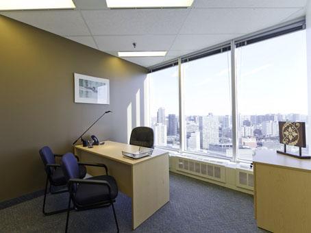 large windowed office suite