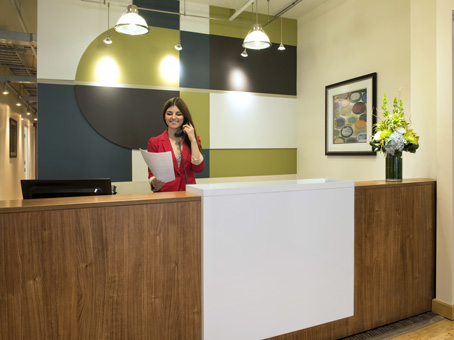 reception area and receptionist