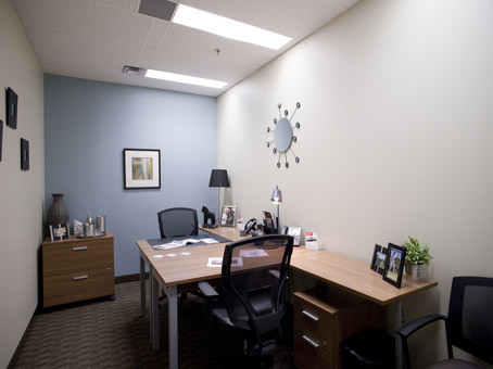internal office with two large filing cabinets