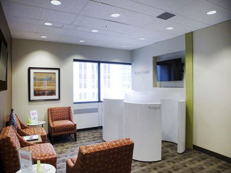 business lounge with thinkpods