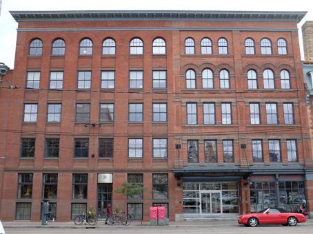 111 queen street east classic brick exterior