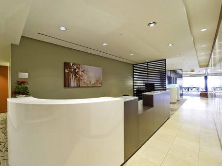 reception desk and main hallway