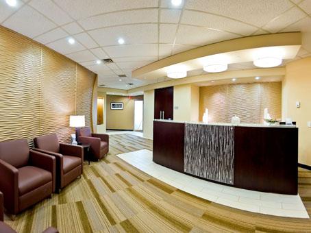 lobby with a nice sofa