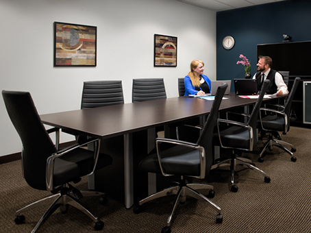 meeting in long table room
