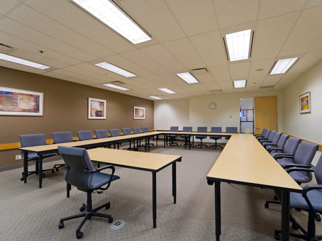 a round table like meeting room