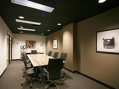 dark like long table meeting room