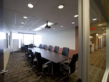 wide look meeting room view