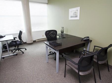 window office with 2 desks