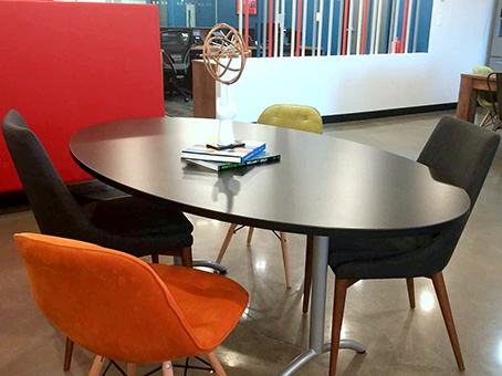 small oblong table and chairs