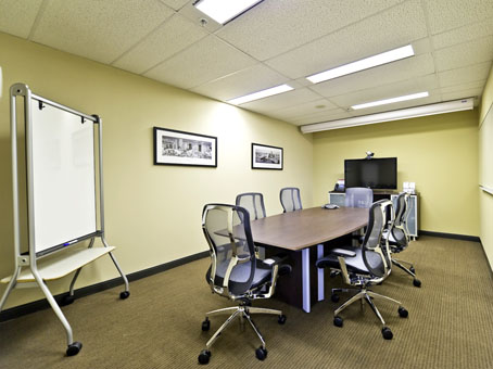 a far view of a conference room