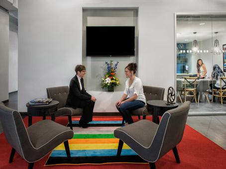 technicolor  in a lobby
