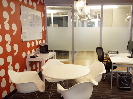 white table and chairs with clear sliding door