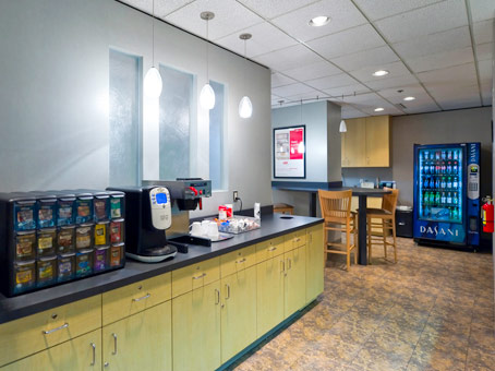 food with vending machines and counter