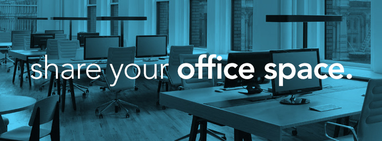 sharing office space