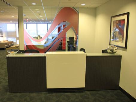 receptionist painting