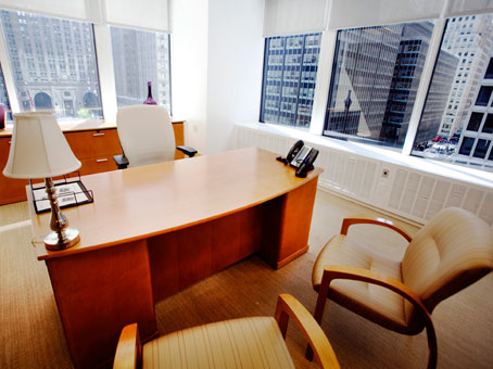 executive office surrounded with glass window