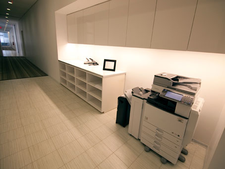 cabinets and printer