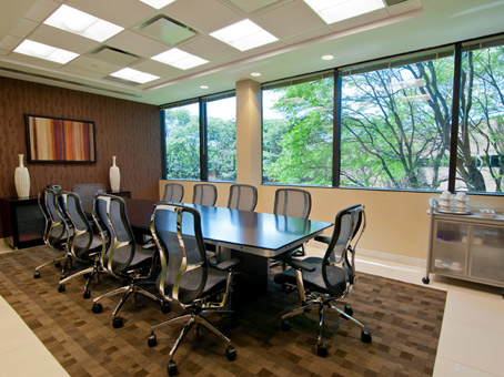 full wide window in a nice meeting room