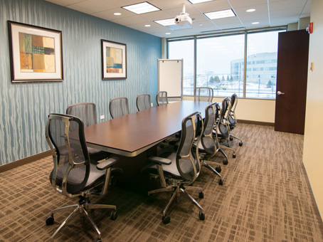 long table in the meeting room