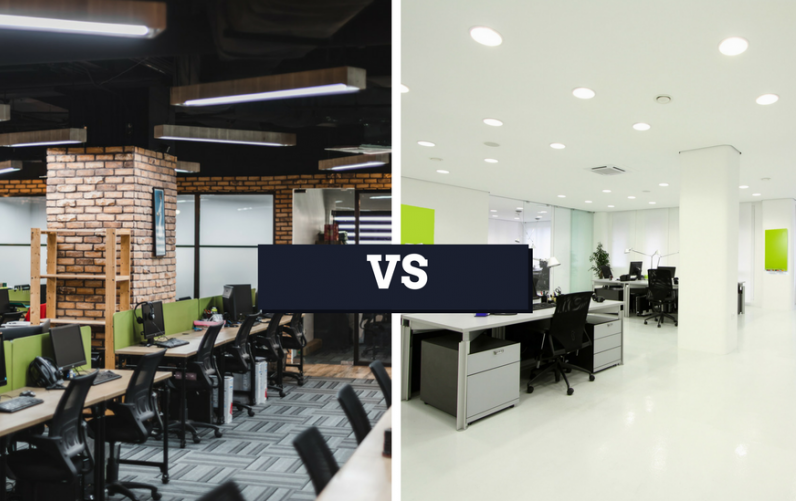 traditional vs coworking office