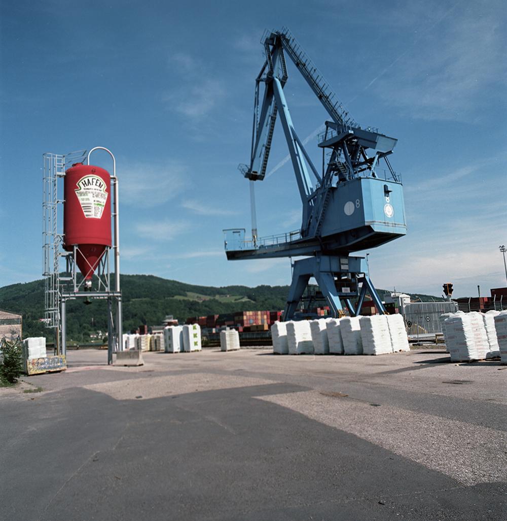 Trading port and factory port development(1939- 1944).  rebuilt after the war in 1949/50  Regensburger St.