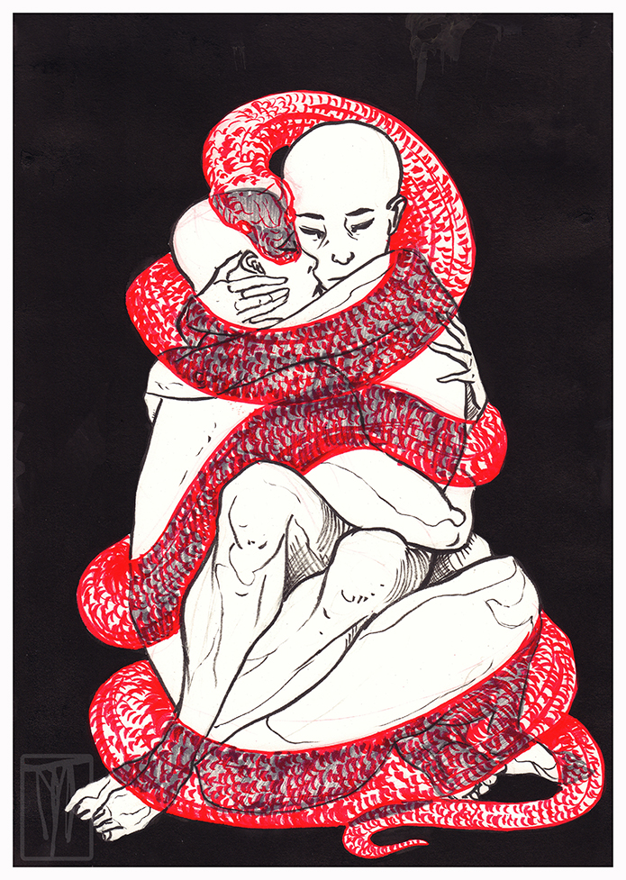 The Embrace (Inktober 2018)