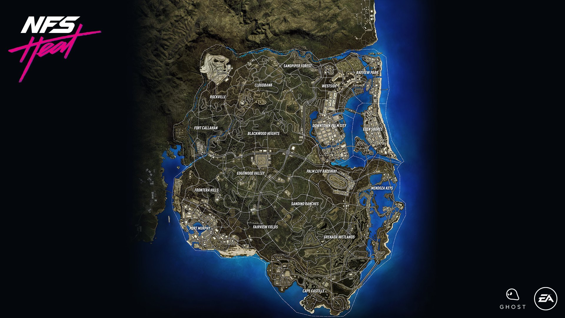 Need For Speed Heat Full Map Revealed The Nobeds