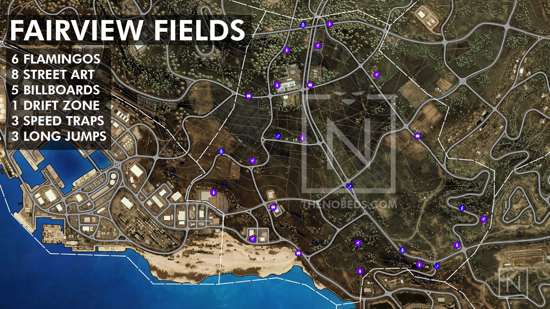 need for speed heat art locations map