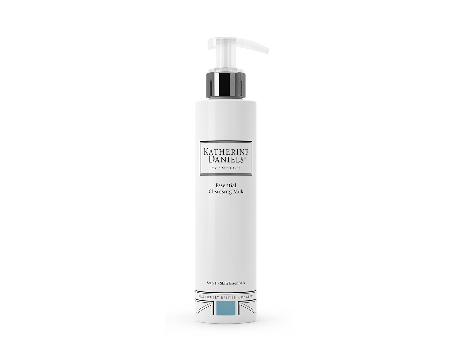 HOW TO USE - Apply 2-3 pumps of milk to your face and neck with your fingertips. Gently massage in circular movements, avoiding the eye area, to lift away make-up and impurities. Remove with a damp Katherine Daniels Micro Cloth. Repeat. Now use your Katherine Daniels Essential Toning Lotion.