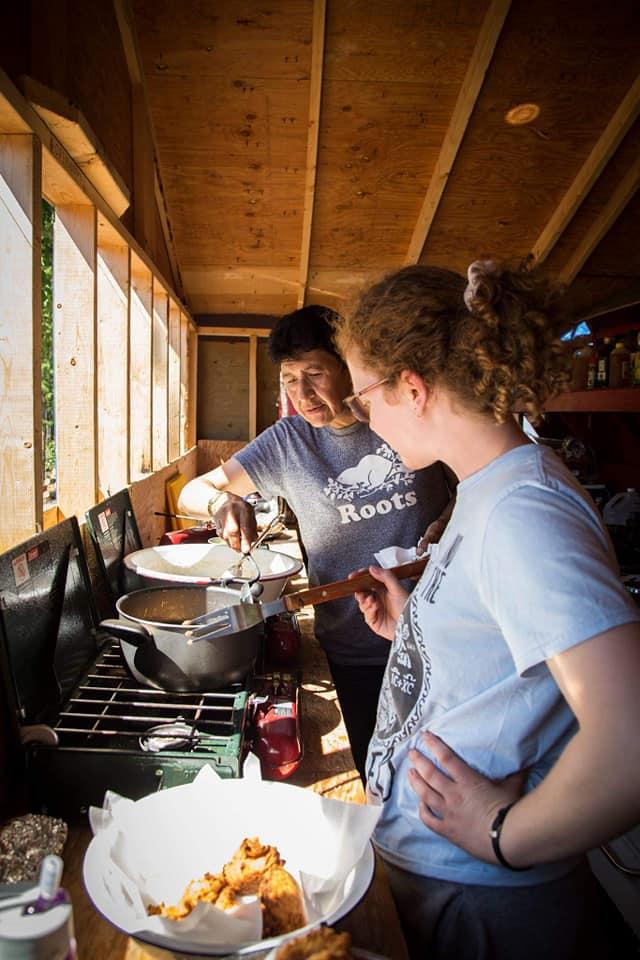PC 2018 Bannock Cooking Emma and Christina.jpg