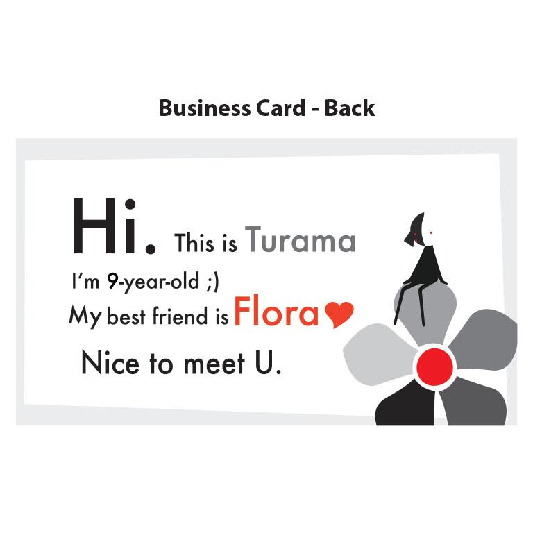 Here's Turama's best friends, Flora.