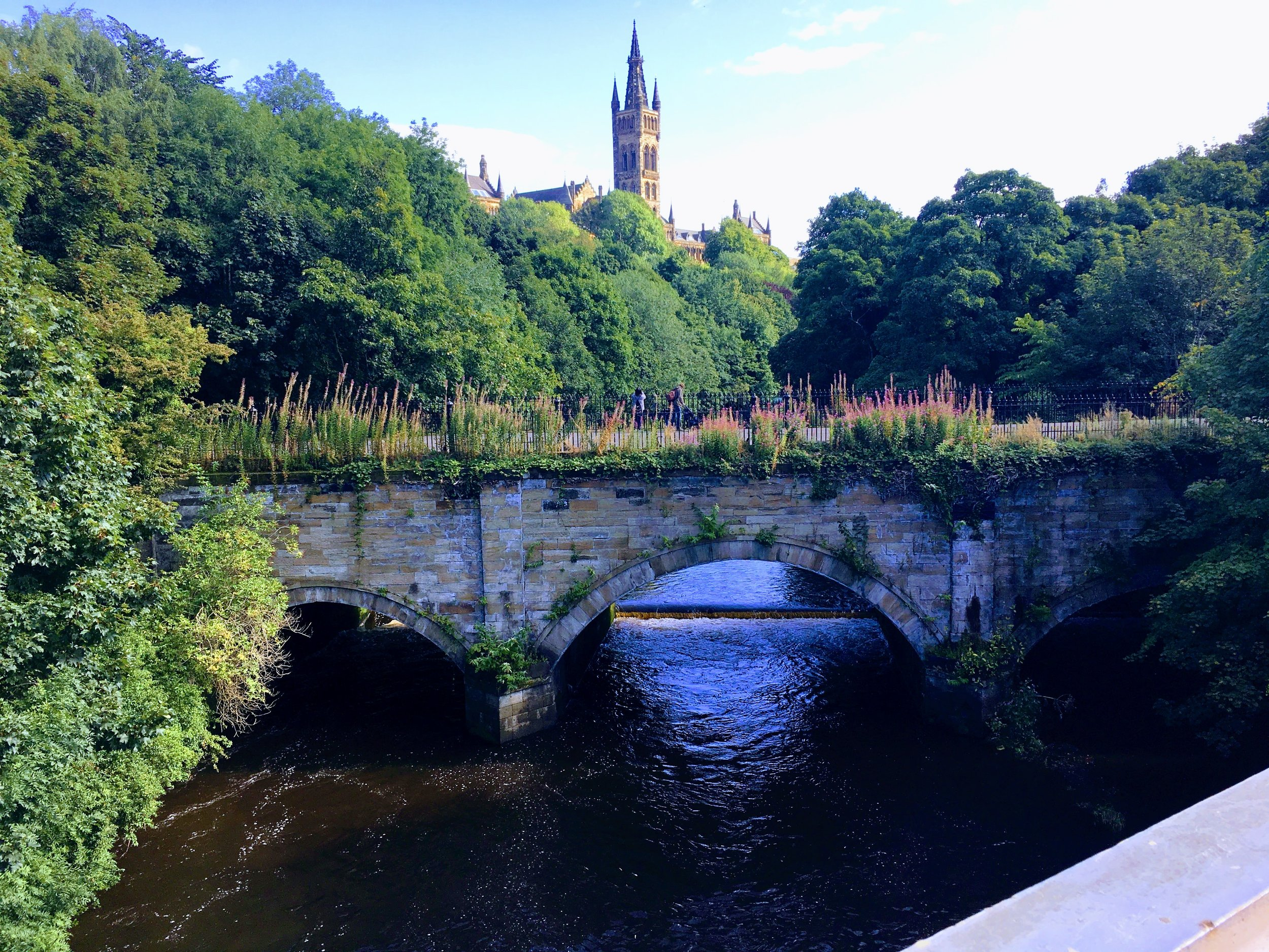 The bridge that I walked pass everyday to go to school in Glasgow, Scotland.