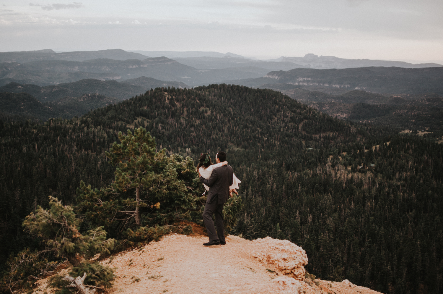 southern utah bryce canyon adventurous elopement with mountain landscape simply amor photography