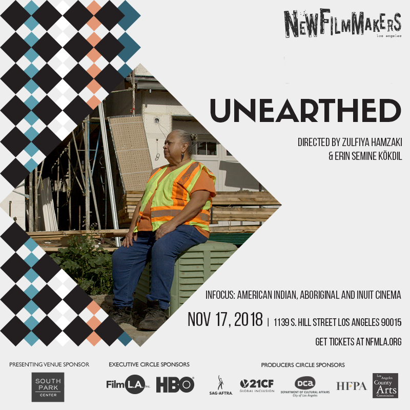 LA premiere of Unearthed at the NewFilmmakers Los Angeles (NFMLA) film festival, 2018