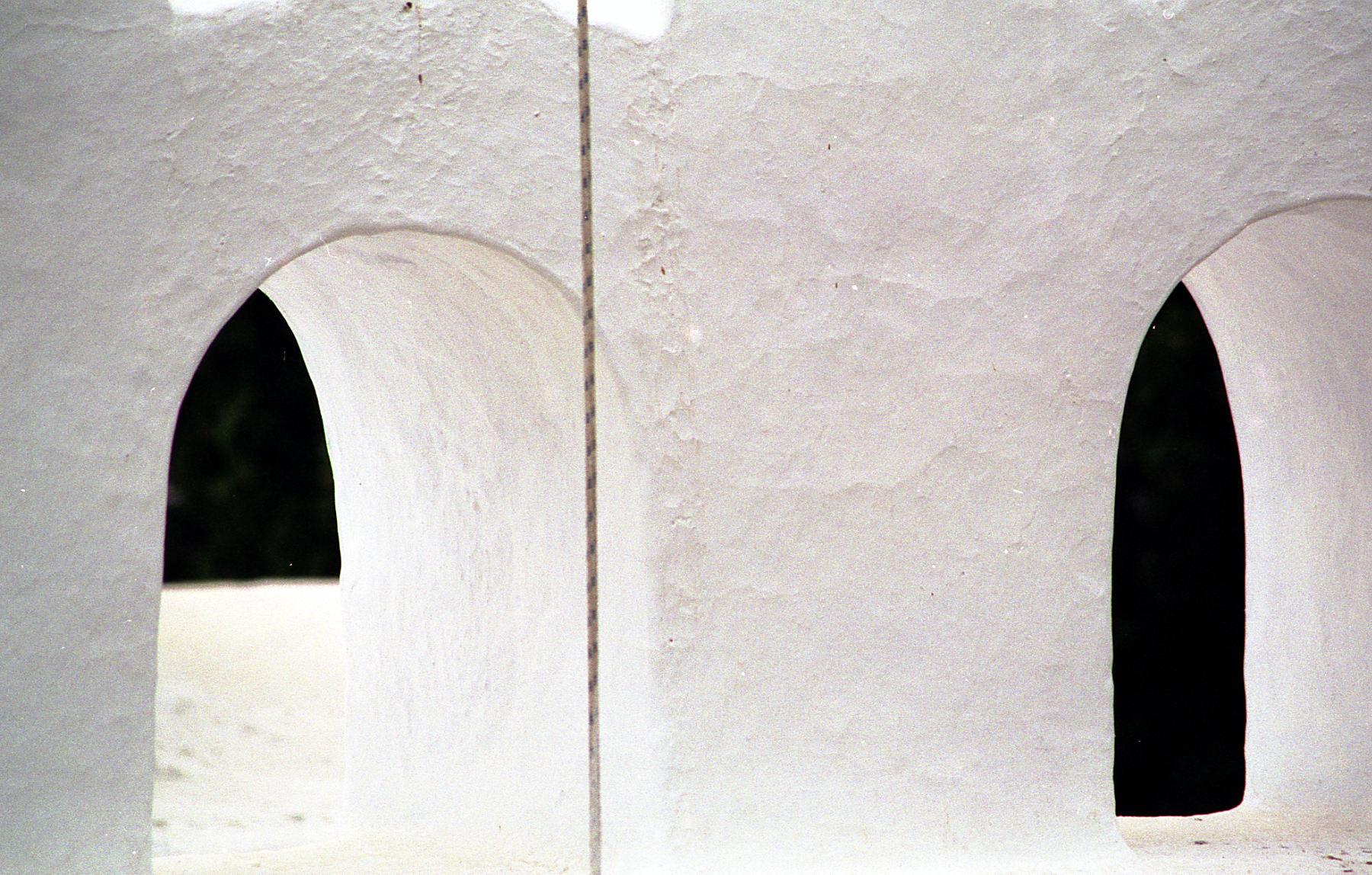 Church windows, Greece
