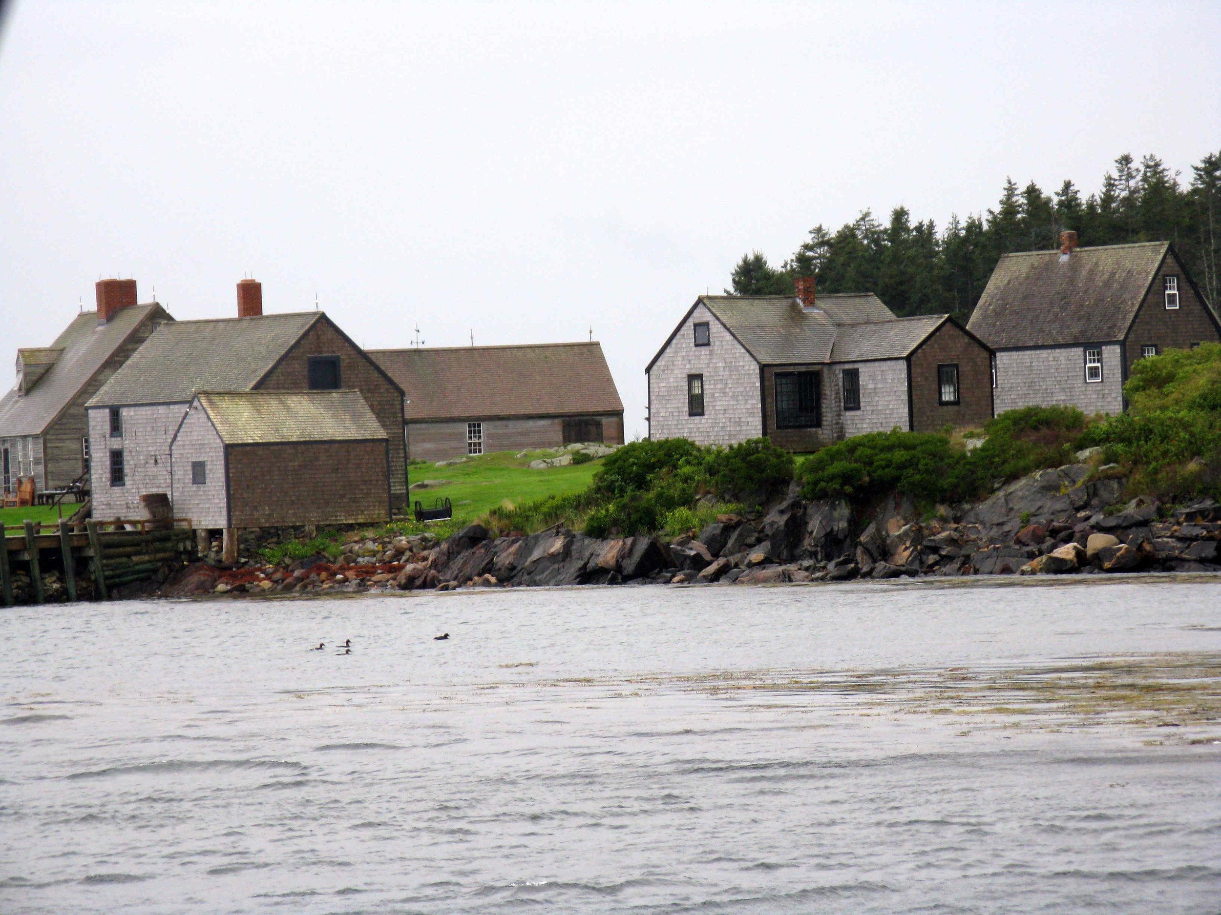 Houses on Maine lake