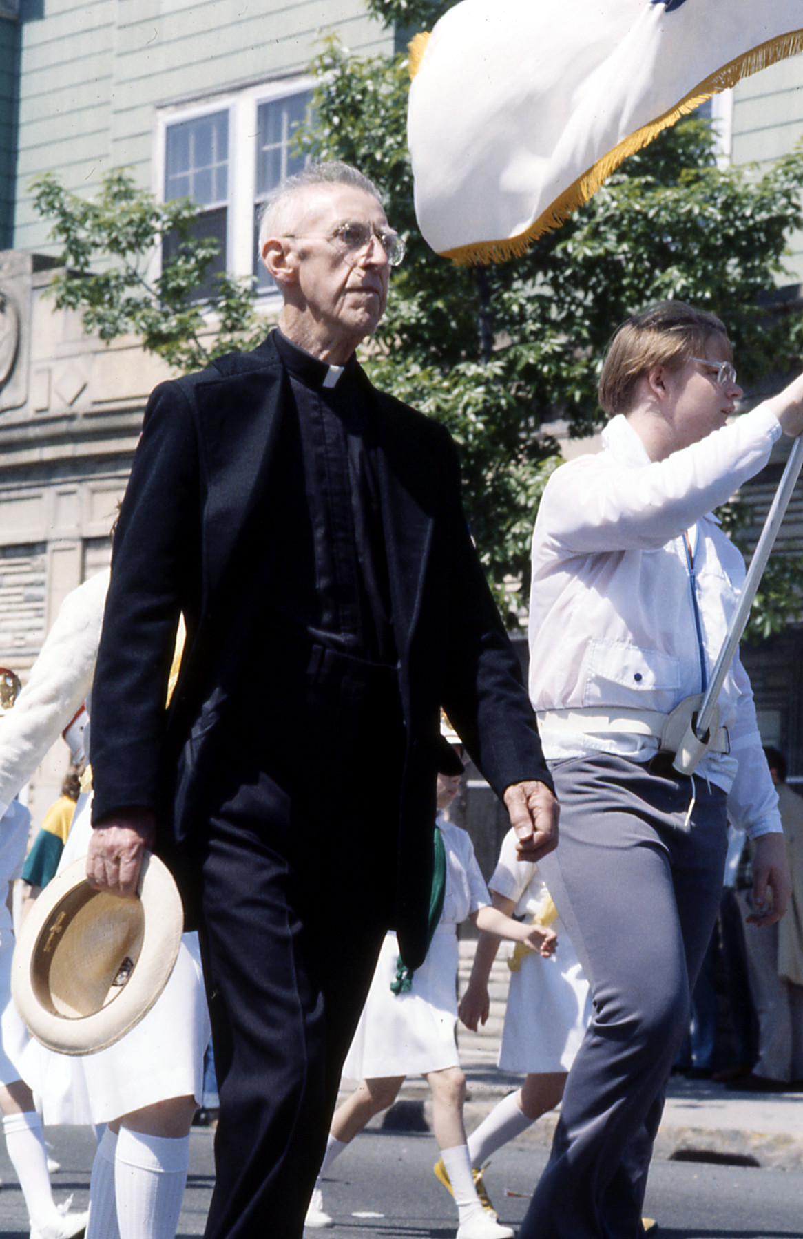 New Hampshire marching priest