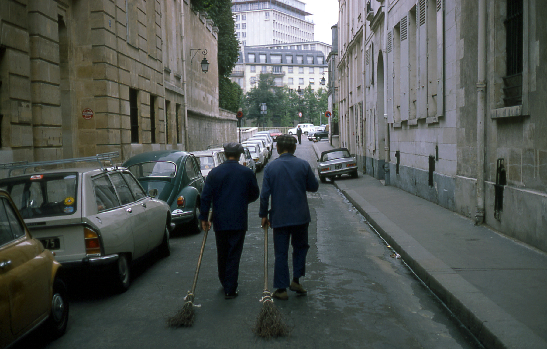 Paris street sweepers