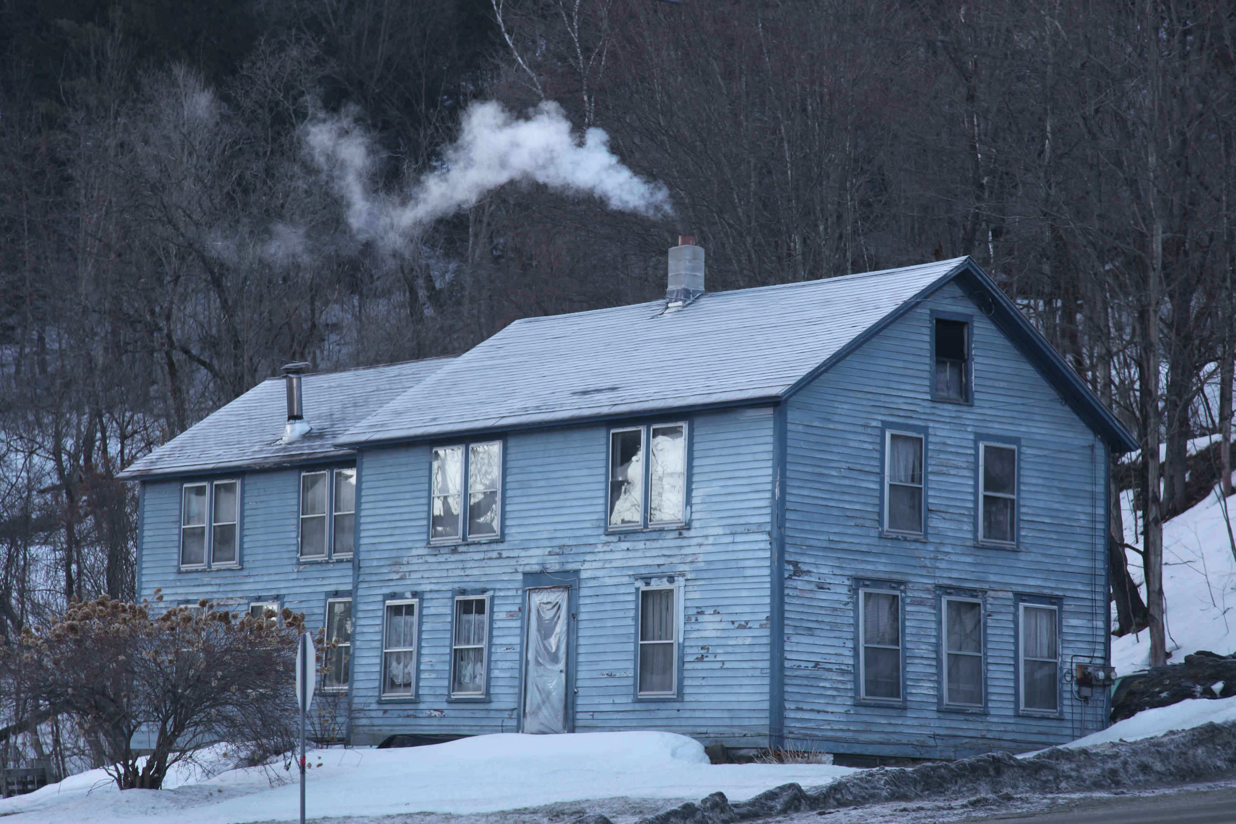Vermont house in winter