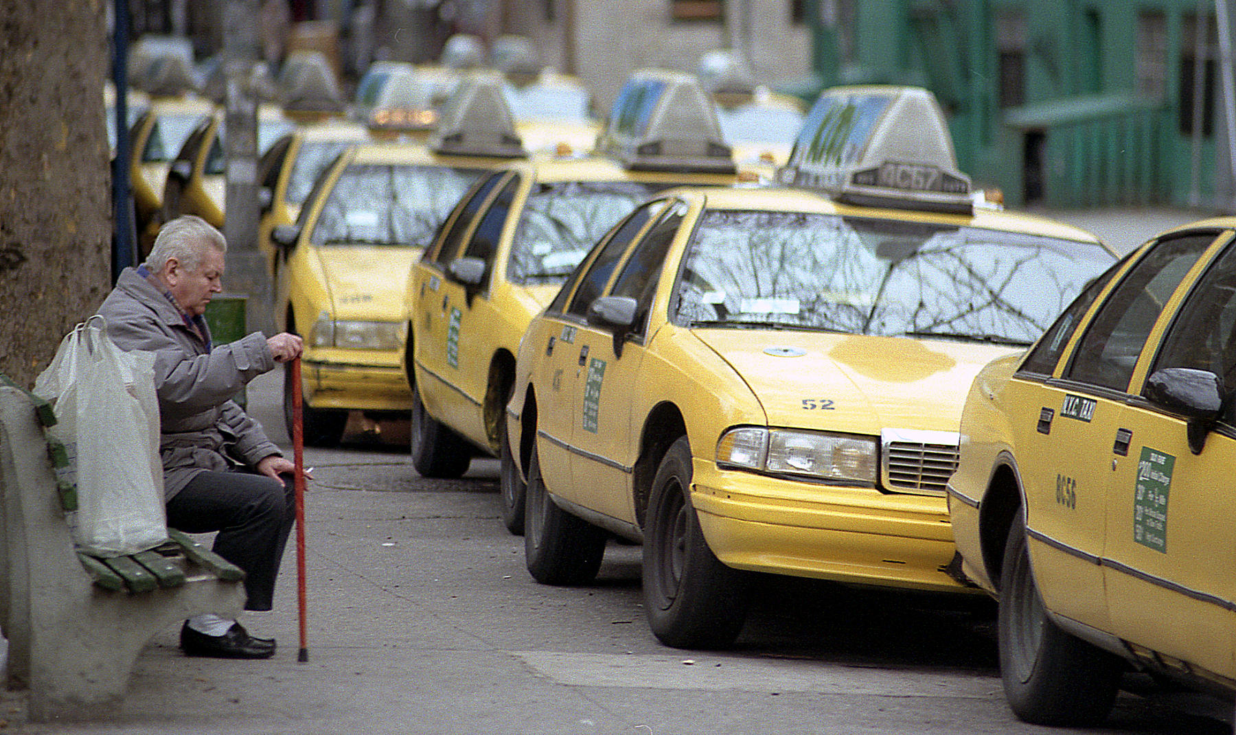 New York man and cabs