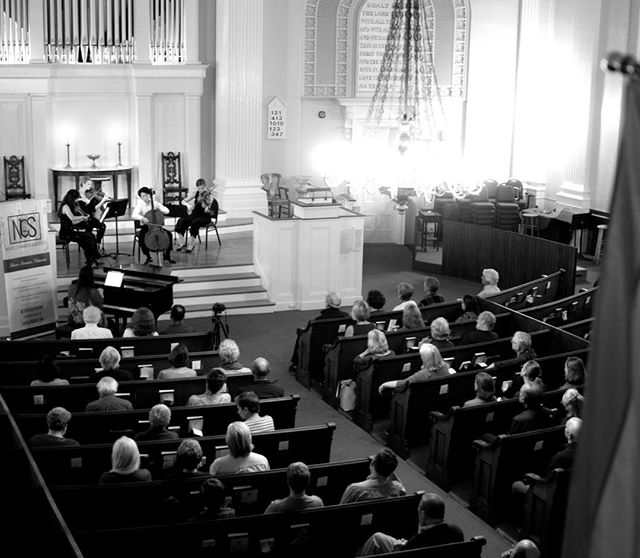 After four concerts and a residency in New Hampshire, our 3rd annual Portsmouth Music Festival 2019 has concluded with a big success. Congratulations to all NCS artists and a big thank you to South Church! 👏👏👏  Photo: Dan Derby | Pictured: YiQun Xu, YuEun Kim, Amelia Dietrich, Bethany Hargreaves, Yoon Lee #festival #music #classicalmusic #newhampshire #portsmouth #sharing #thankyou #art #artists #beauty #humanity #community #love #church #concert #concerts #chambermusic #noreechambersoloists #tour #concerto
