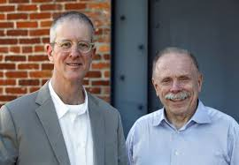 David Dixon (right) photo with Jeff Speck (left) - Elkhart's River District Urban Planner - who will also be in attendance for this special event.