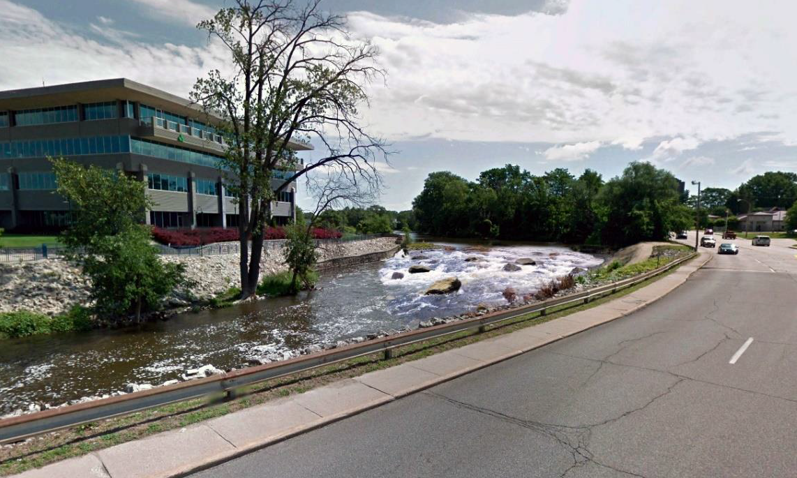 Rendering of the Elkhart River after removal of the dam.