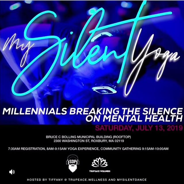📣📣ONE WEEK AWAY!! JULY 13, 2019! 📣📣RSVP required. @yinconsulting will be a vendor at this very special event: . . .Join @trupeace.wellness and @mysilentdanceparty for MY SILENT YOGA. Get your spot today!! EVENTBRITE: MY SILENT YOGA . .✨MY SILENT YOGA✨ will bring awareness to mental health in Roxbury and neighboring communities. This collaboration with @mysilentdanceparty brings music the music and teacher's direct voice to your ears creating a more personal experience to focus on your Zen, combined with a healing practice of breath and movement. ALL LEVELS WELCOME, COME EXPERIENCE SOMETHING NEW! Gathering together with one breath, one sound, one purpose 🧘🏽♀️🎧🔥 . . We are honored to share space  with the other vendors : @Simply_oko & @pharaohessentials !