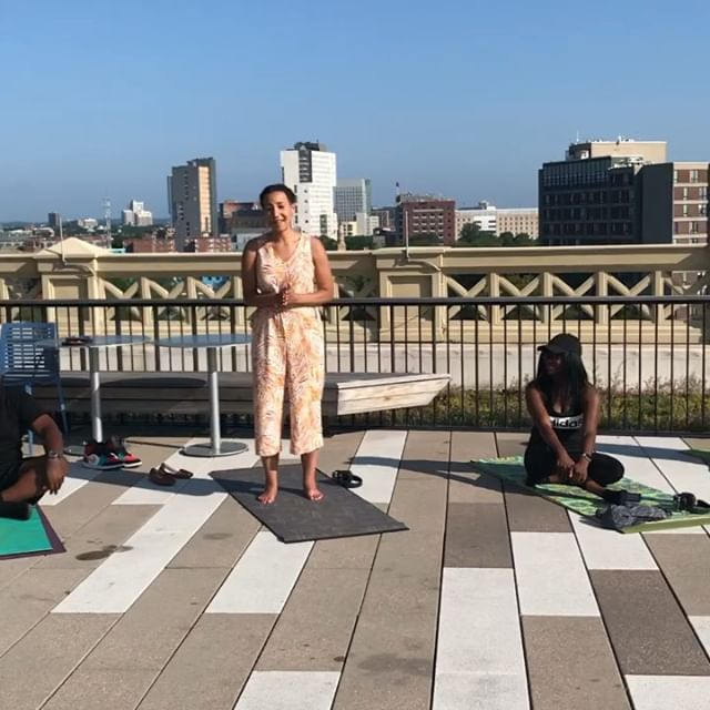Our founder @nperryma sharing what we do, how we do it and why at the recent #mysilentyoga event put on by @trupeace.wellness and @mysilentdanceparty last weekend. We are grateful for the space to share! . . .What does organizational healing mean to you?